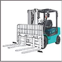 Forklift attachment: Four Fork Wide Carriage (Includes Sideshift)